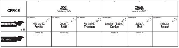 Welcome to Jefferson County, New York - Sample Ballots, 2019